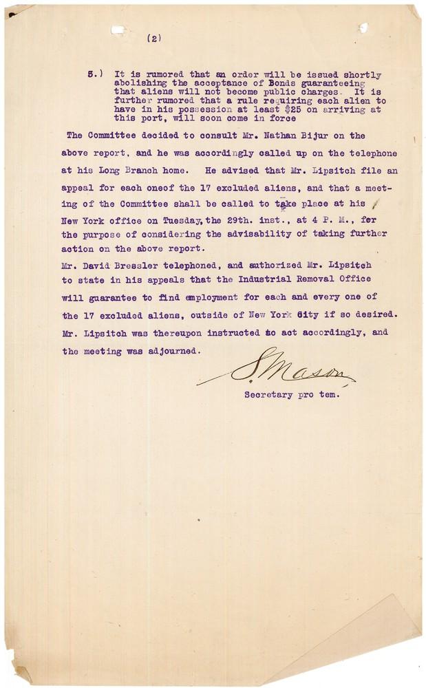 RG 245.4.1 - Box 1 - Folder 2 - Ellis Island Meeting -  June 28 1909 - 2.jpg