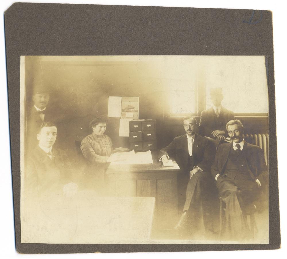 3 - New York, Early 1900's - HIAS Ellis Island Bureau office staff.jpg