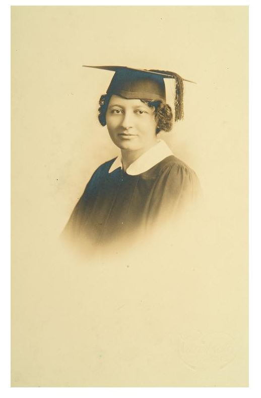 RG 120 - 356 - Unidentified young female graduate, ca. 1930s.JPG