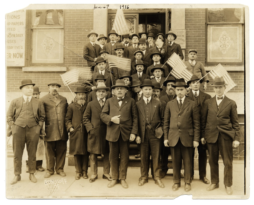 13 - January 1916 - Newly arrived immigrants at East Broadway Shelter.jpg