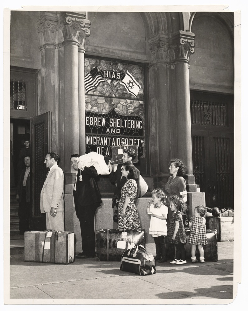 8 - Families lined up outside the HIAS office in New York.jpg