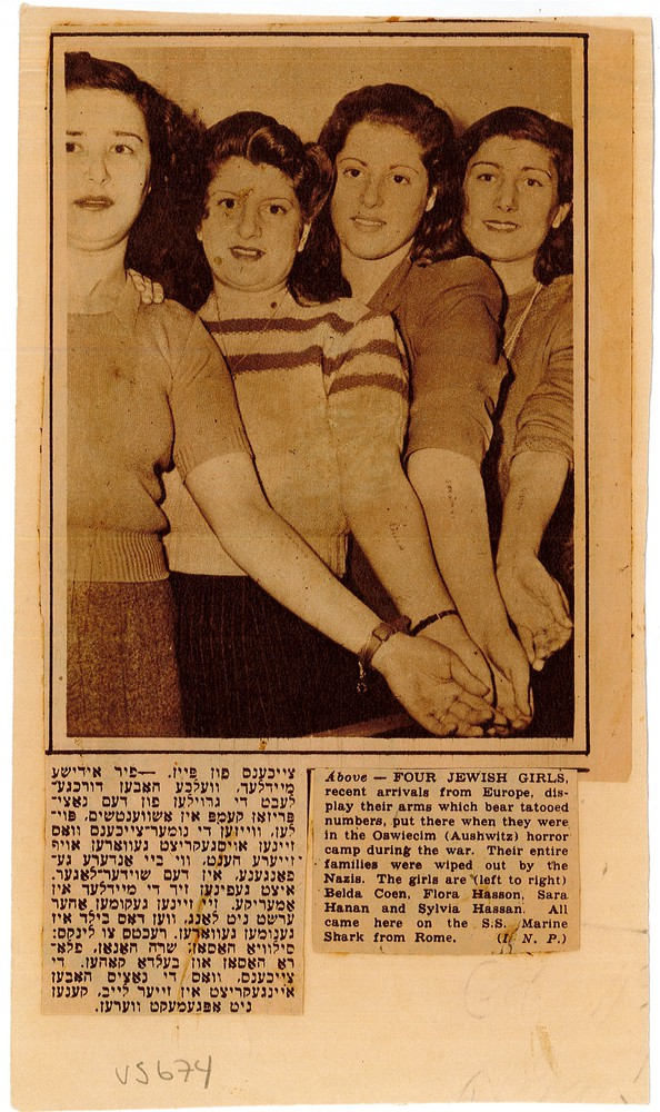 RG 120 - US674 - four jewish girls - recent US arrivals after the Holocaust.jpg