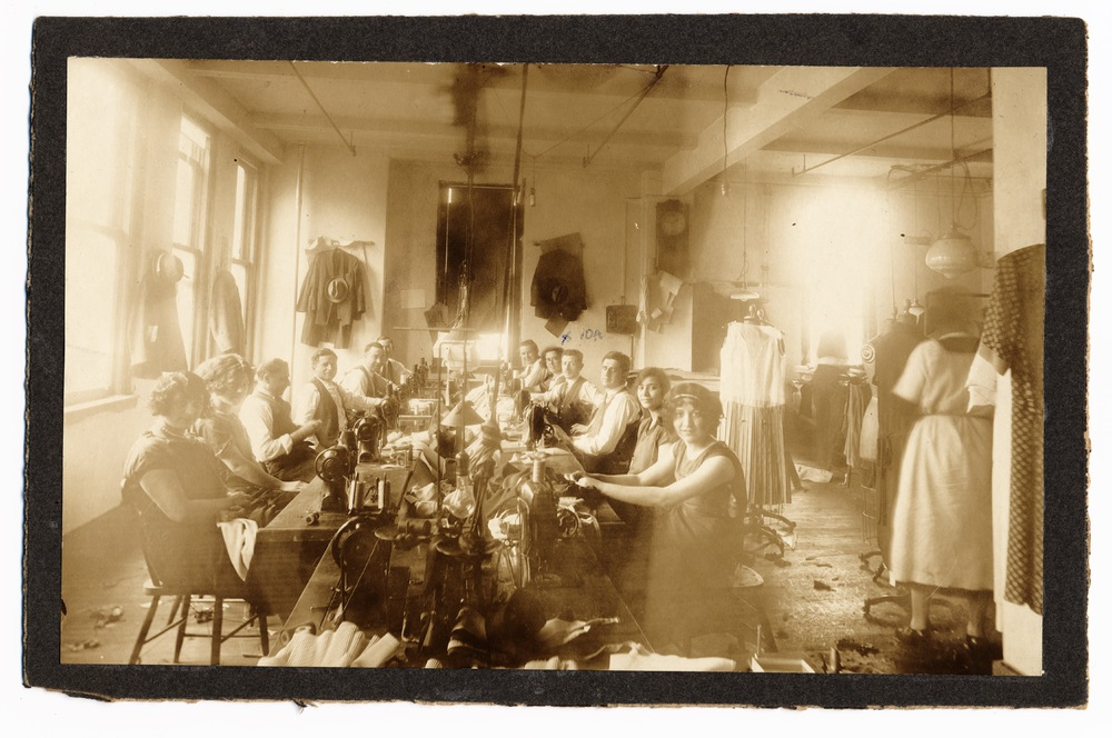 Seamstresses and Tailors in a Sweatshop