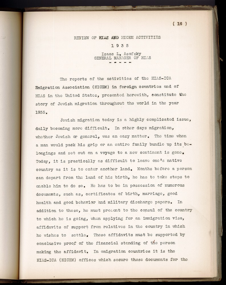 1935 Annual Message and Reports - Presidents message describing immigration .jpg