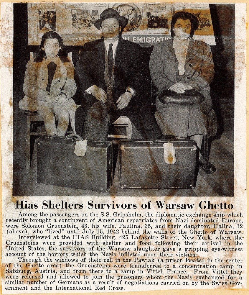 RG 120 - US675 - Clipping of family of survivors sheltered by HIAS - May 1944.jpg