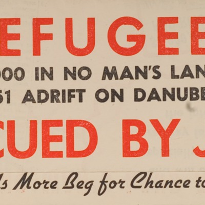 Flyer Publicizing the Plight of Jewish Refugees