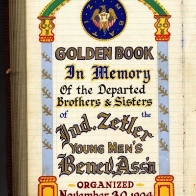 Golden Book of the Independent Zetler Young Men's Benevolent Association