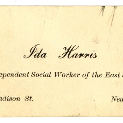 Business card of Ida Harris