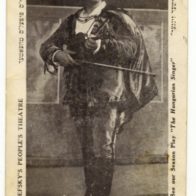 Yiddish Actor Boris Thomashefsky