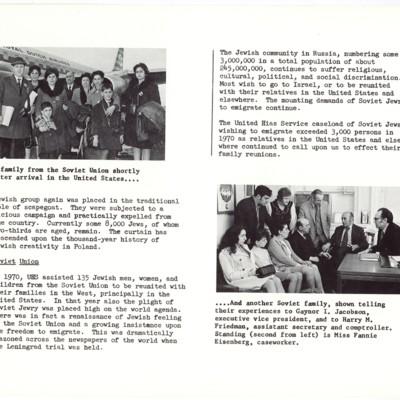 Report on Soviet Jewish Immigrants