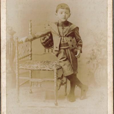 Studio Portrait of a Young Boy