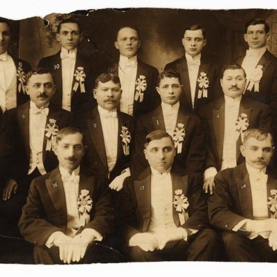 Members of the Independent Zetler Young Men's Benevolent Association